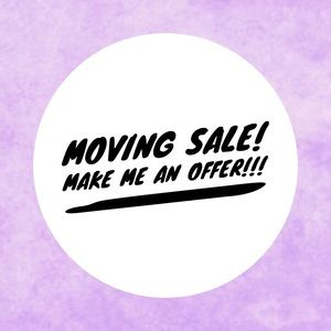 Moving sale!!!  Closet must go!!